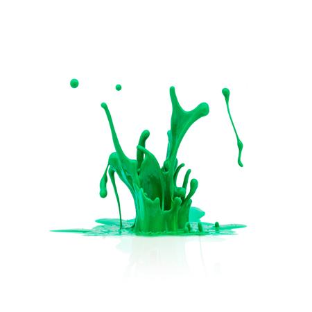 paint splash: splash of green paint isolated on white background
