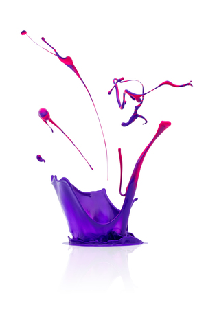colorful paint: abstract splash of Colorful paint Stock Photo