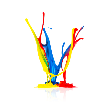 prepress: paint splash in different colors