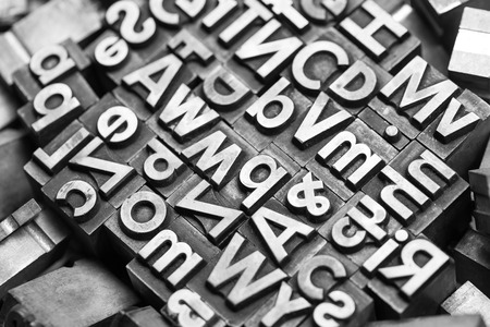 typesetter: heap of different lead letters