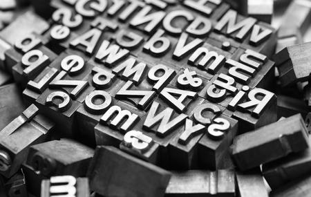 copywriter: Heap of print letters