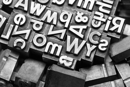 copywriter: Lead letters heap Stock Photo