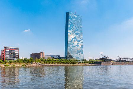ecb: European Central Bank or ECB in Frankfurt Editorial