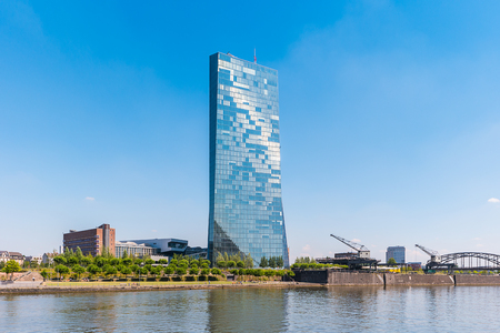 New headquarters of the European Central Bank or ECB in Frankfurt Editorial