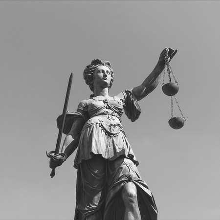 Justitia (Lady Justice) sculpture
