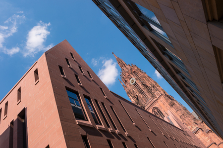roemerberg: Cathedral in Frankfurt at Summer, germany Stock Photo