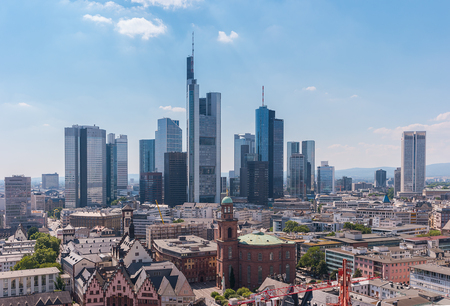 center city: View of the skyline of Frankfurt, Germany