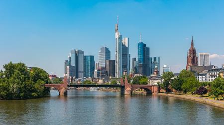 Frankfurt financial district in germany