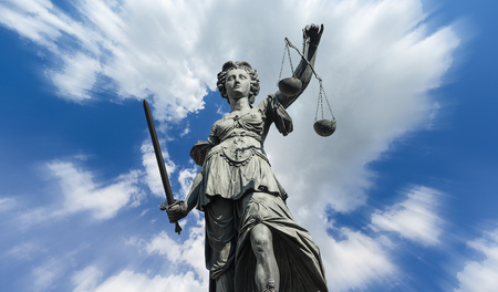 正義の女神 (Justitia) 写真素材