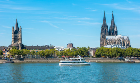 travel to cologne city at summer