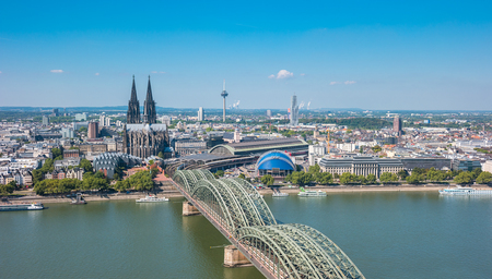 Cologne at summer Stock fotó
