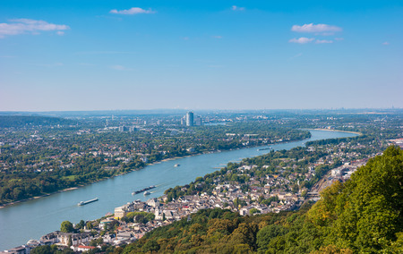 View of Bonn City at summer from the Drachenfels