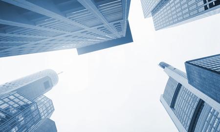 condominium complex: Skyscrapers in Mainhattan, Frankfurt Stock Photo