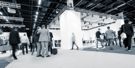 Blurred businesspeople International Tradeshow