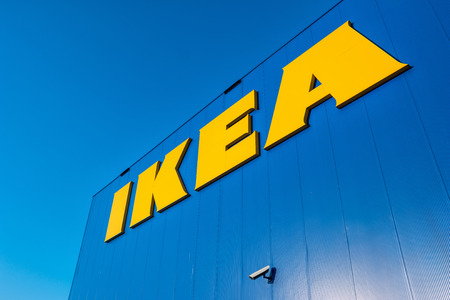 HEERLEN, NETHERLANDS FEBRUARY, 2017: IKEA store with security camera. IKEA is the worlds large largest furniture retailer and sells ready-to-assemble furniture. Founded in Sweden in 1943rd Editorial