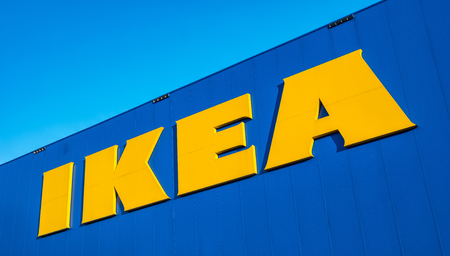 HEERLEN, NETHERLANDS FEBRUARY, 2017: The Ikea store logo. IKEA is the worlds large largest furniture retailer and sells ready-to-assemble furniture. Founded in Sweden in 1943rd
