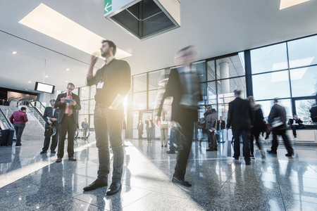 business people activity standing and walking in the lobby Stock Photo