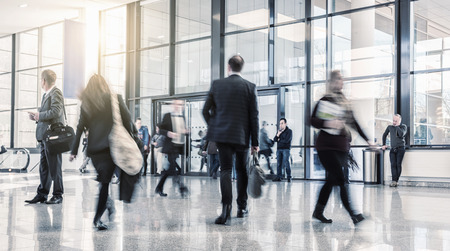 messe: Businesspeople Walking Commuter Stock Photo