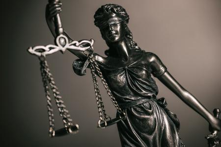 Statue of justice goddess (Justitia)