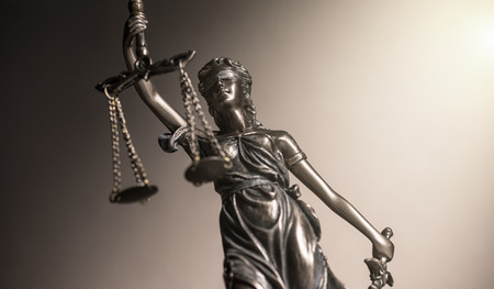 Statue of justice law concept image Stock Photo