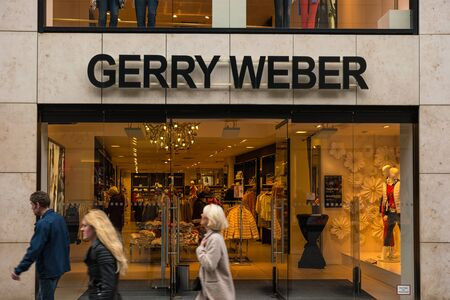 weber: AACHEN, GERMANY FEBRUARY, 2017: Store of the clothing company Gerry Weber, Gerry Weber Manages 1,000 own stores with brands typhoon Samoon and Hallhuber.