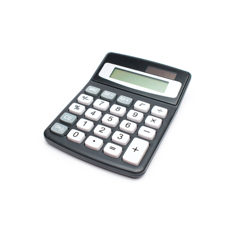 financially: Pocked Calculator on a White Background