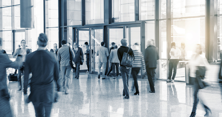 group of workers: Blurred Business People