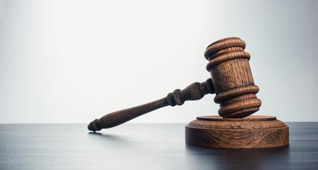Judges Gavel over gray background