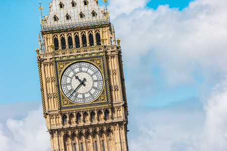 britan: Big Ben, Houses of Parliament, Westminster Palace - London gothic architecture
