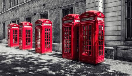 ロンドン、イギリスで ed 電話ブース 写真素材