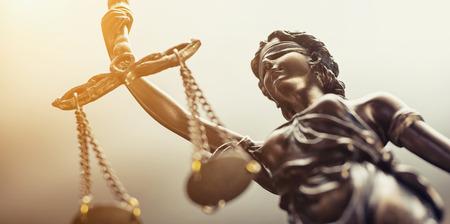 The statue of justice symbol, legal law concept image Archivio Fotografico