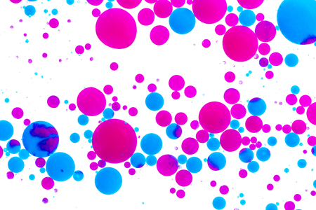 Colorful ink balls on white Stock Photo