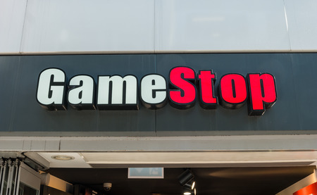 COLOGNE GERMANY OCTOBER 2017 GameStop Logo On A Store Is An