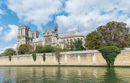 Notre Dame de Paris Cathedral, most beautiful cathedral in Paris, view from the River Seine, France. Reklamní fotografie