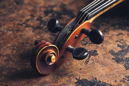 old antique stradivarius violin head
