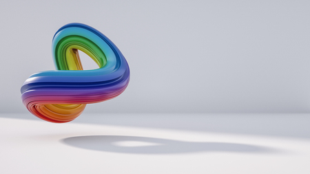 abstract rainbow  , including copy space, 3D rendering 免版税图像