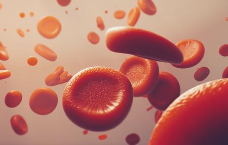 Bild der roten Blutkörperchen, des wissenschaftlichen oder medizinischen oder mikrobiologischen Konzeptes - Wiedergabe 3D