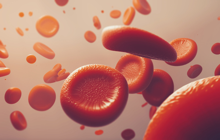 red blood cells, scientific or medical or microbiological concept image - 3D rendering