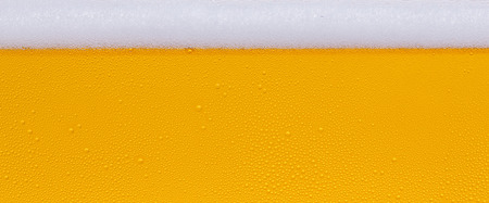 Drops of water on a glass of beer. Background, Texture, banner size Stock Photo