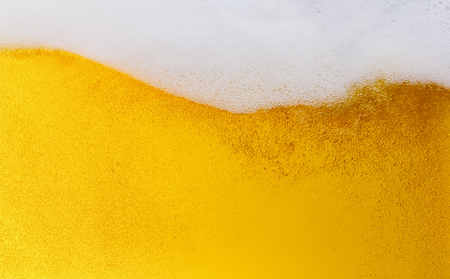 Beer bubbles with wavy curve