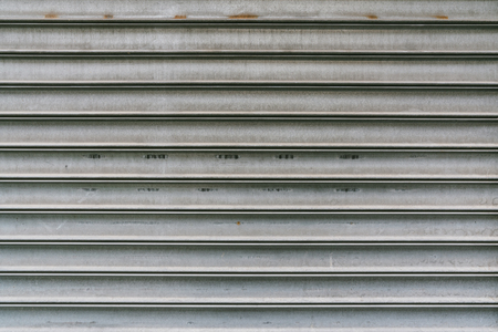 Corrugated weathered metal texture surface background Stock Photo