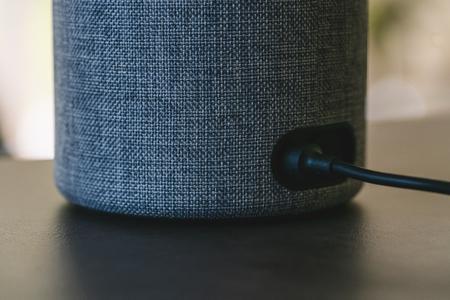Electronic equipment smart speaker Stock Photo
