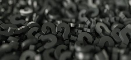 Infinite question marks backgorund Banco de Imagens