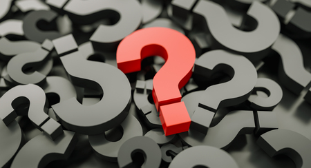 red big question marks background