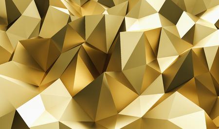 Elegant luxury golden low-poly background Reklamní fotografie