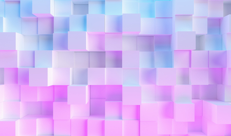 multi color technology cube pattern background