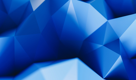 luxury blue low poly background - 3D rendering - illustration