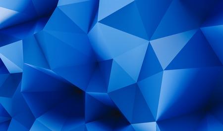 Blue Polygonal Mosaic Background - 3D Rendering - Illustration, Creative Business Design Templates Reklamní fotografie