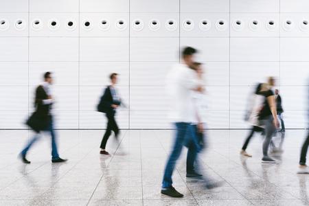 Crowd of people walking on a street in Berlin