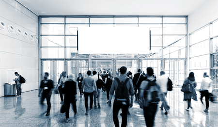 unrecognizable business people walking at a airport hall Stock fotó